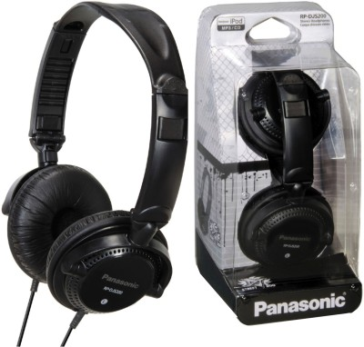 Panasonic RP DJS200E K Black, Over the Head available at Flipkart for Rs.1399