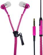Aeoss Zipper Earphone With Microphone Pink