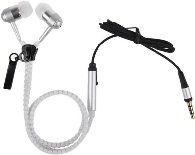 Gadget Deals Zipper Earphone  Wired Headset With Mic (Multicolour)