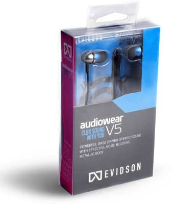 Evidson Audio AudioWear V5 Blue Wired Headset