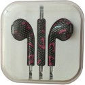 Karp Fancy Printed Designer Earphone For Apple IPhone/Android Mobiles/Tablets With Mic (Anchor) Wired Headset (Black)