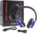 GATASMAY H-666G GATASMAY H-666 Wired Bluetooth Headphones (Blue, Over The Ear)