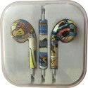 Karp Fancy Printed Designer Earphone For Apple IPhone/Android Mobiles/Tablets With Mic (Comics) Wired Headset (Yellow)