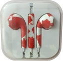 Karp Fancy Printed Designer Earphone For Apple IPhone/Android Mobiles/Tablets With Mic (Canadian Flag) Wired Headset (Red)