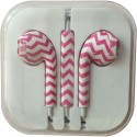 Karp Fancy Printed Designer Earphone For Apple IPhone/Android Mobiles/Tablets With Mic (Pink Zigzag) Wired Headset (Pink)