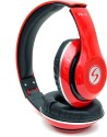 LIFE LIKE VM-42 3D SOUND WIRED Wired Bluetooth Headphones (RED, Over The Ear)