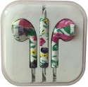 Karp Fancy Printed Designer Earphone For Apple IPhone/Android Mobiles/Tablets With Mic (Big Flowers) Wired Headset (Multy)
