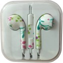 Karp Fancy Printed Designer Earphone For Apple IPhone/Android Mobiles/Tablets With Mic (Paint) Wired Headset (Multy)