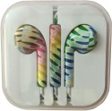 Karp Fancy Printed Designer Earphone For Apple IPhone/Android Mobiles/Tablets With Mic (Rainbow) Wired Headset (Yellow)