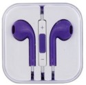 Storite Stereo Headset Earpods With Mic And Volume Controller For Apple Wired Headset (Purple)