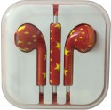 Karp Fancy Printed Designer Earphone For Apple IPhone/Android Mobiles/Tablets With Mic (China Flag) Wired Headset (Red)