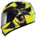 LS2 Warrior Air Pump Motorsports Helmet - L - Yellow, Glossy Black
