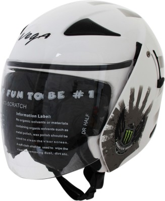 Vega Eclipse Monster Army Motorsports Helmet - Medium - White, Silver
