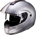 Studds Ninja 3G Double Visor Motorsports Helmet - L - Silver Grey