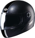 Studds Chrome Eco Motorsports Helmet - L - Black Plain