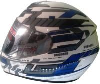 LS2 Ff350 Tron Motorsports Helmet - L (White, Blue)