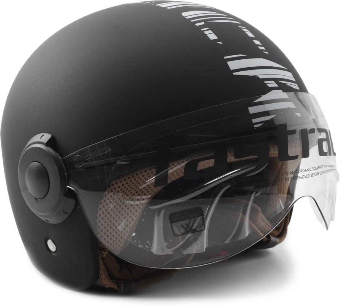 Fastrack Half Face with Visor Motorsports Helmet - L - Buy ...