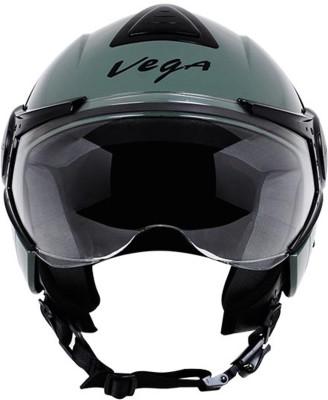 Vega Verve Motorsports Helmet - M - Army Green