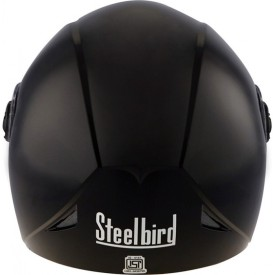 Steelbird Steelbird Helmet Sb-43 Yo-Yo Glossy (Black) Motorbike Helmet - L