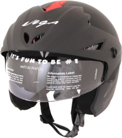 Vega Cruiser W/P Arrows Motorsports Helmet - M Dull Black, Red