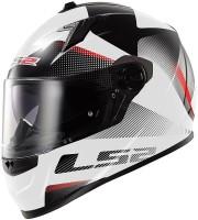 LS2 Ff322 Dual Visor Tyrelle Motorsports Helmet - L (White, Orange)