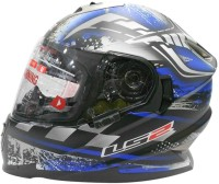 LS2 Ff302 DeCor Motorsports Helmet - L (Black, Blue)