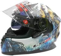 LS2 Ff302 DeCor Warrior Motorsports Helmet - L (Black, Blue)