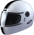 Studds Chrome Eco Motorsports Helmet - L - White Plain