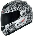 LS2 Lunatic Motorsports Helmet - L - Black, Glossy White
