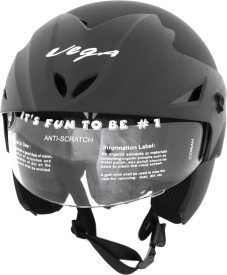 Vega Helmet Cruiser With Peak Dull Black