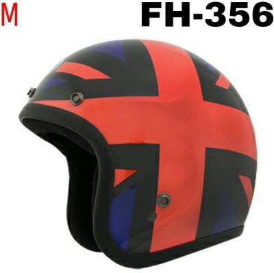 3a6de2e5 THH Fh-356 Open Face Orange Star Black Base Motorbike Helmet - M (Black)