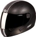 Studds Chrome With Mirror Visor Motorsports Helmet - XL - Black Plain