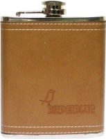 Bird In Blue Stainless Steel Wrapped With Leather Hip Flask (90 Ml)