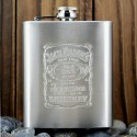 Jack Daniels Stainless Steel Hip Flask - 236 Ml