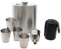 Soy Impulse Set Of 6 Stainless Steel Bar Set Hip Flask (210 Ml)
