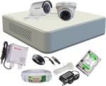 Hikvision HDTVI Full Combo, Turbo IR Dome Camera 1Pcs & Bullet Camera 1Pcs + Active Cable + F1 Mini DVR