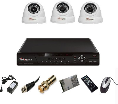 Tentronix T-4AVR-3-D13 4Channel AHD DVR 3 (1 MP 36 IR) Dome Cameras