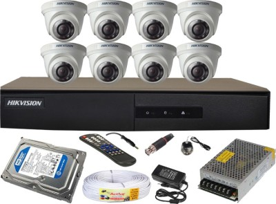 Hikvision 8CH-DS-7208HGHI-E1 Turbo 8 Channel Dvr 8 Dome CCTV Cameras (With 4TB H.D,Mouse,Remote,Power Supply,BNC & DC Connectors,Power Adopter,Cable)