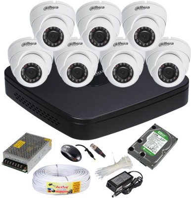 Dahua-DH-HCVR4108C-S2-8-Channel-Dvr-+-7(DH-HAC-HDW1000RP-0360B)-Dome-Cameras-(With-1TB-H.D,Mouse,Power-Supply,BNC-&-DC-Connectors,Cable)