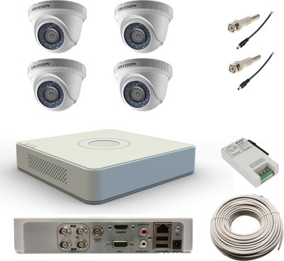 Hikvision DS-7104HWI-SH 4Channel DVR + 4 Dome CCTV Camera