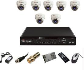 Tentronix T-8CH-8-D8 8Channel DVR + 8 (800TVL) IR Dome CCTV Cameras