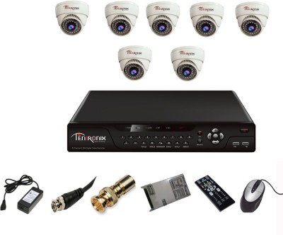 Tentronix T-8CH-8-D8 8Channel DVR + 8 (800TVL) IR Dome CCTV Cameras