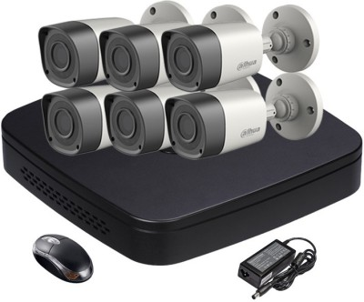 Dahua DH-HCVR4108C-S2 8-Channel Dvr + 6 (DH-HAC-HFW1000RP) Bullet Cameras (With Adapter & Mouse)