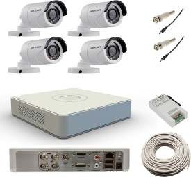 Hikvision DS-7104HWI-SH 4Channel DVR + 4 Bullet CCTV Camera