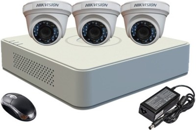 Hikvision-DS-7104HGHI-E1-4-Channel-Dvr-+-3-(DS2E56COT-IR)-Dome-Camera-(With-Adapter-&-Mouse)
