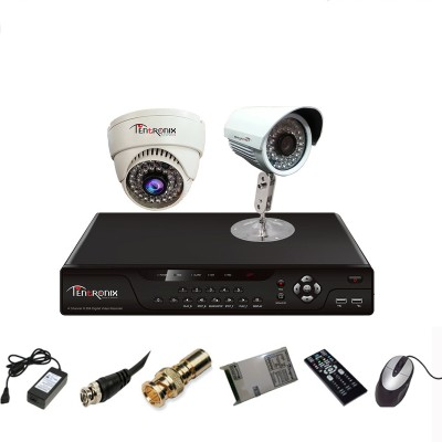 Tentronix-T-4AVR-2-DB10-4Channel-AHD-DVR-+-1-(1-MP-36-IR)-Bullet-+-1-(1-MP-36-IR)-Dome-Cameras
