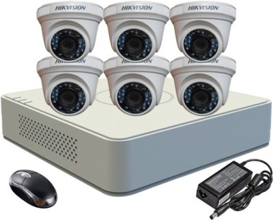 Hikvision-DS-7108HGHI-E1-8CH-Dvr,-6-(DS-2CE56C2T-IRP)-Dome-Cameras