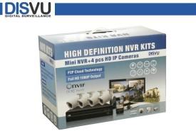 Disvu DISVU-IPK-104 4Channel NVR + 4 IP(Indoor & Outdoor) Cameras