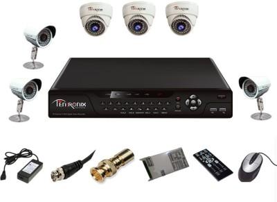 Tentronix T-8CH-6-DB8 8Channel DVR + 3 (800TVL) Dome + 3 (800TVL) Bullet CCTV Cameras