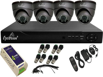 Optivision OV-4704-1488-4DLX 4Channel DVR +4 (650TVL) IR Dome CCTV Cameras (With Mouse,Remote,1 Power Supply,BNC,DC Connector)
